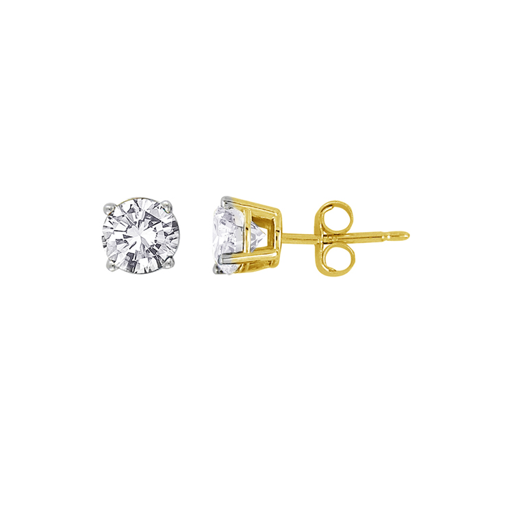 9ct Gold Stud Earrings made with SWAROVSKI® Zirconia