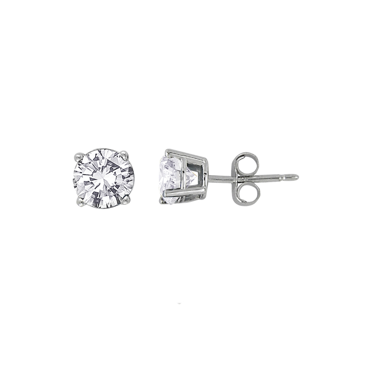 9ct White Gold Stud Earrings made with SWAROVSKI® Zirconia