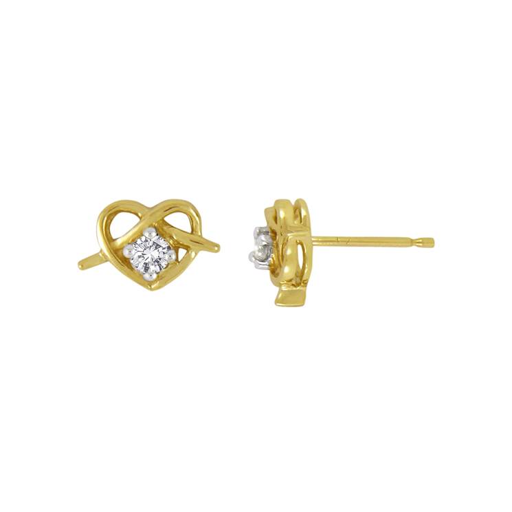 9ct Gold Knot Earrings made with SWAROVSKI® Zirconia