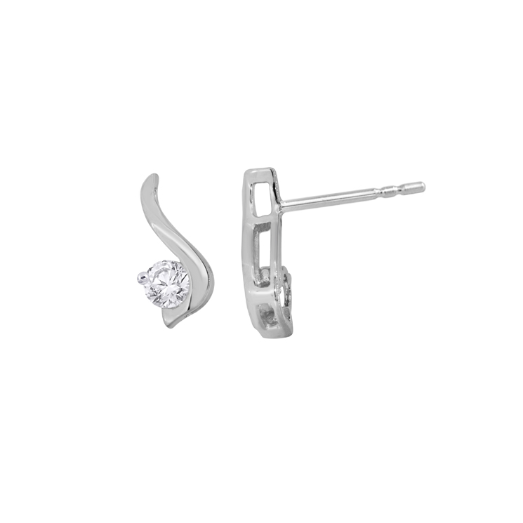 9ct White Gold Drop Earrings made with SWAROVSKI® Zirconia