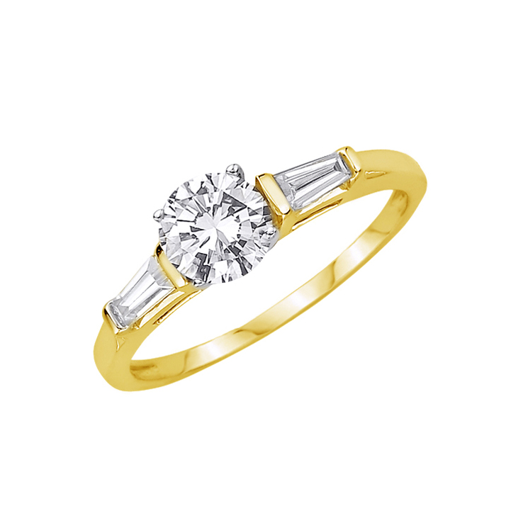 9ct Gold Dress Ring made with SWAROVSKI® Zirconia