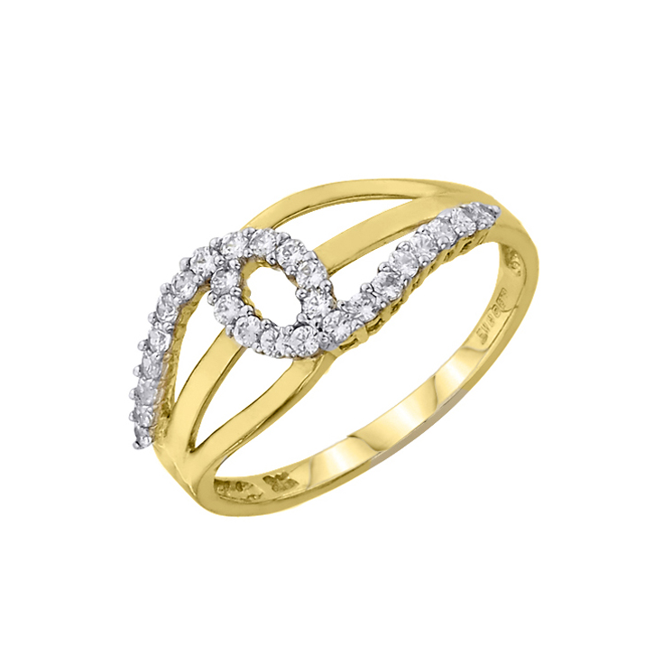 9ct Gold Dress Ring made with SWAROVSKI® Zirconia