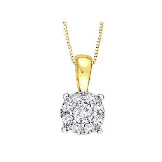 9ct Gold Diamond Pendant